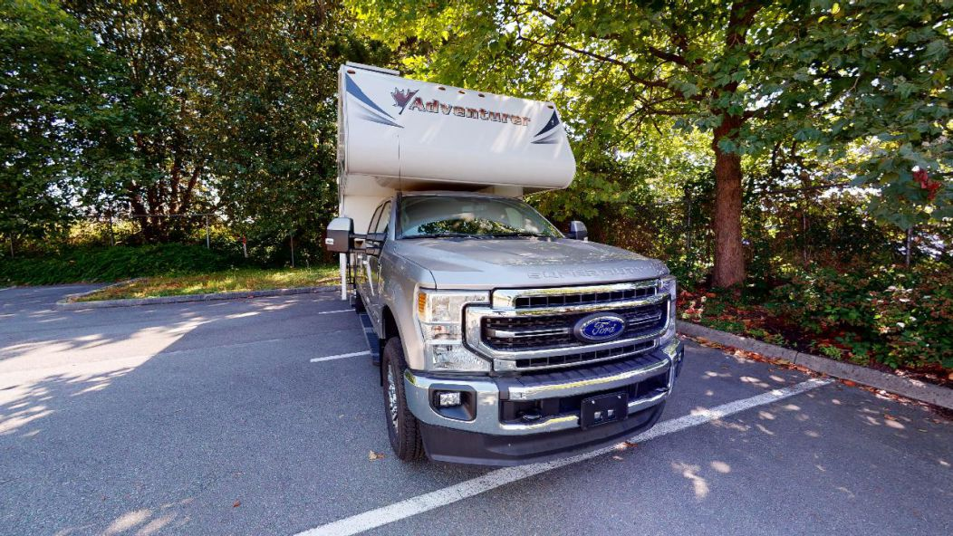 Truck Camper with Bunk-Slide-out