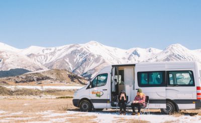 Winter trips with a camper